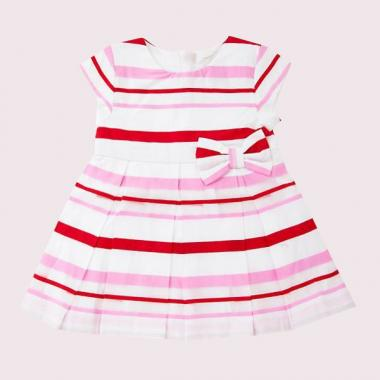 BABIES' MULTI STRIPE DRESS AND BLOOMER SET