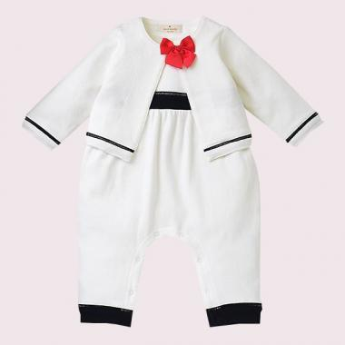 TWO-PIECE BABY JAKET&COVERALL SET