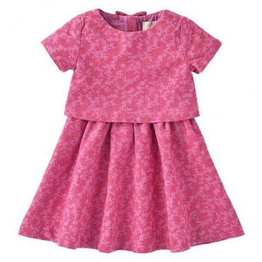 TODDLERS' JACQUARD DRESS