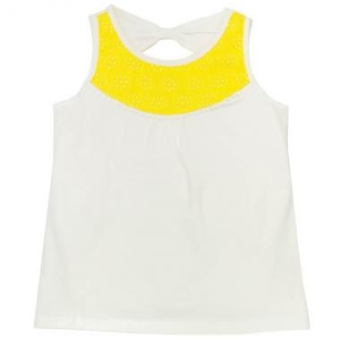 TODDLERS EYELET BOW TANK