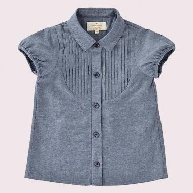TODDLER RUFFLE CHAMBRAY SHIRT