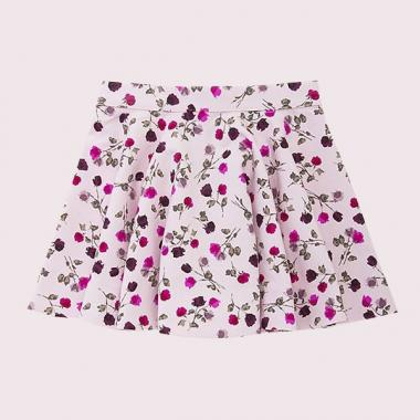 TODDLERS TOSSED ROSE CIRCLE SKIRT