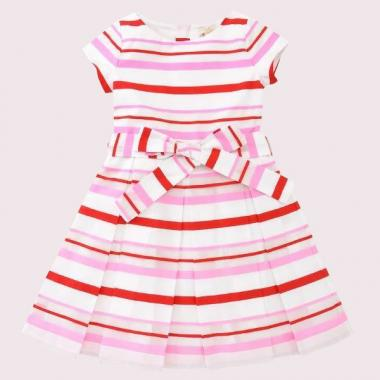 GIRLS' MULTI STRIPE DRESS