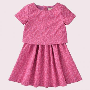 GIRLS' JACQUARD DRESS