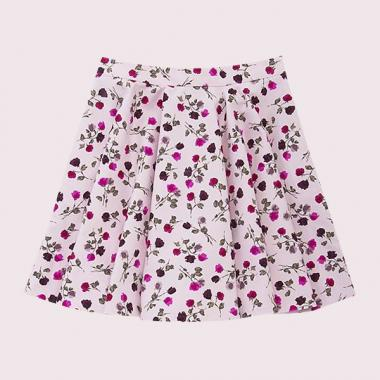 GIRLS TOSSED ROSE CIRCLE SKIRT