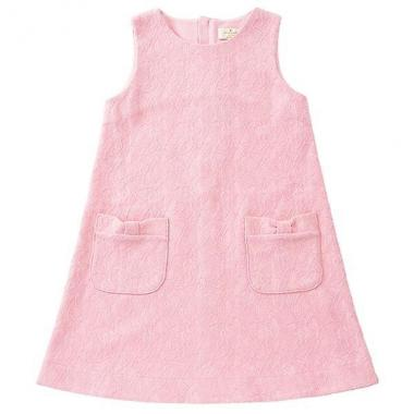 GIRLS LACE JERSEY JUMPER DRESS